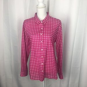 Crown & Ivy Square and Polkadot Button Up Top
